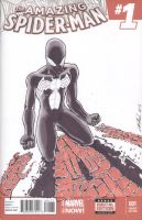 Amazing Spider-Man Black Suit Sketch Cover by shinlyle