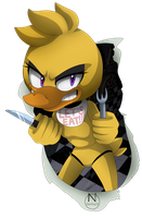 Old Chica (Sonic Style) by N-SteiSha25