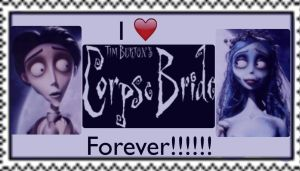 I love Corpse Bride Forever Stamp by SamApeace