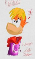 First AA Drawing of Rayman by RailwayFan2001