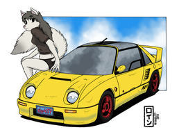 Her radical ride -colored- by megawolf77