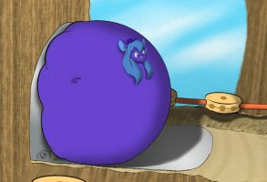 Blueberry Gadget Swollen Round by uruseiranma
