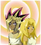 Etsuko And Atem - Colored by usagisailormoon20