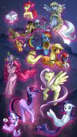 Sky Full of Ponies by KatiraMoon