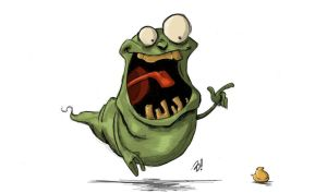 Slimer and His Peep by DaveBardin