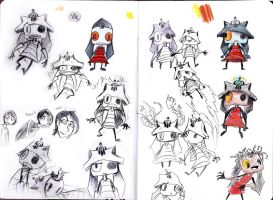 Little Robot Character Designs by ArtistsBlood