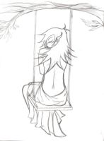 Half-Naked Elf on a Swing by severedanomaly