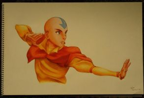 Avatar Aang by xldlcrz