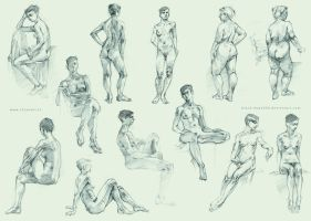 Figure sketches by black-dog2008