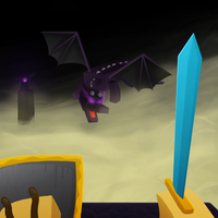 Minecraft Ender Dragon by GoldSolace