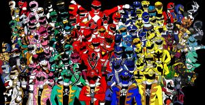120 Power Rangers by LavenderRanger