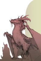 Smaug Sketch by Stephen-0akley