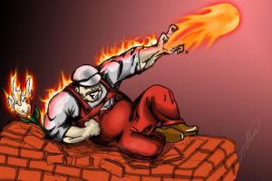 Fire Mario Colored by smthcrim89