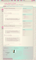 Echo That Is Love Blogger XML by nymphont