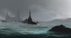 Rainy Harbor by jjpeabody