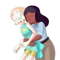 The Doctor and her Pearl - Surprise Hug by FFiamgoku