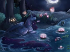Midnight Bath - Luna Springtime by MiidniightSuun