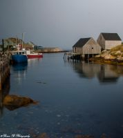 Serene Harbor,Peggy's Cove N.S. by Brian-B-Photography