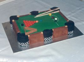Snooker Table Cake by Cavor44