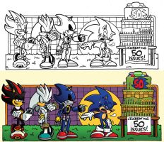 Off Panels: Sonic Universe #50 (Candle Control) by jongraywb