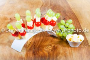 cheese, tomatoes and grapes by daPerforM