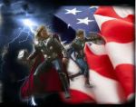 Captain America and Thor by sunshinedolly17