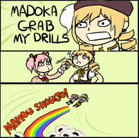 MADOKA GRAB MY DRILLS by Jesscookie