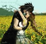 Aerith and Zack by WickedGrl666