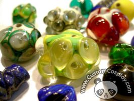 Handmade lamp work glass beads by The-Cute-Storm
