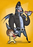 Me And my monster by kungfumonkey