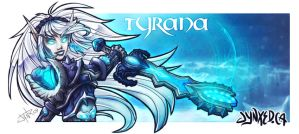 WoW: Death Knight Tyrana by Jynxed-Art