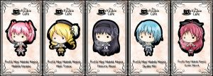 puella magi keybies by silverei