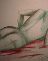 Nude Female Green-Red by insa-nity