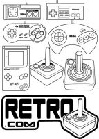retro videogame controllers in by khdownes