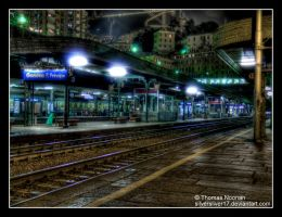 Train Station by SilverSliver17