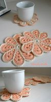 Peachy Coasters by amarilliss