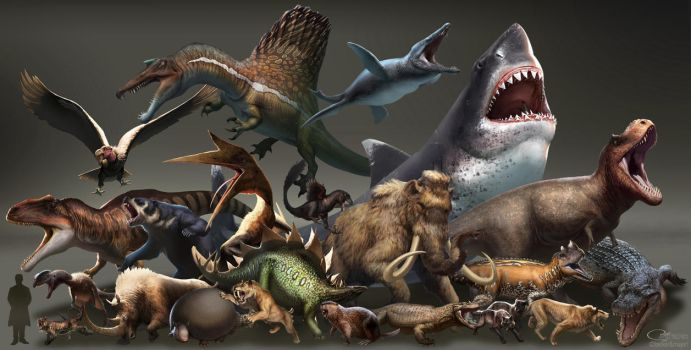 Dinosaurs vs. Beasts by arvalis