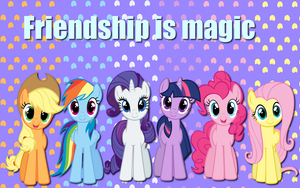Friendship is magic wallpaper by AliceHumanSacrifice0