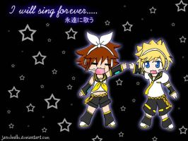 Sora and Roxas Vocaloid by janelvalle
