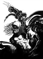 Aliens Vs Predator BW by fromthedead