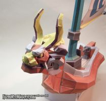 King of Red Lions papercraft by ninjatoespapercraft