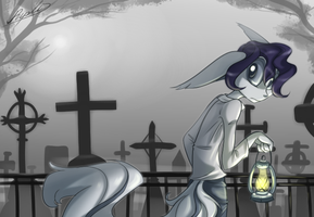 at the cemetery by Ripli2011