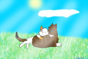 Fallowbreeze and Hawkfrost by LackadaisicalLeopah