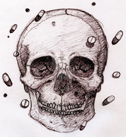 Skull and pills by x-612