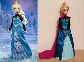Coronation Elsa OOAK doll by frozenblume