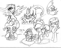 Random Sketch Dump 5 by leadhooves