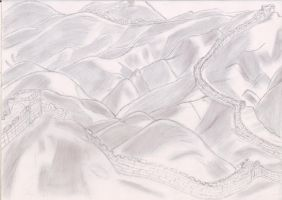 The Great Wall of China Sketch by D7Andres
