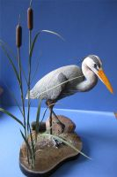 Miniature Great Blue Heron by Bagheera3