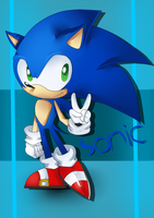 Sonic The Hedgehog by Chiba-Sui