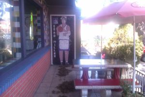 Brad Miller Mosaic painting at Sals Restaurant by DearestLeader